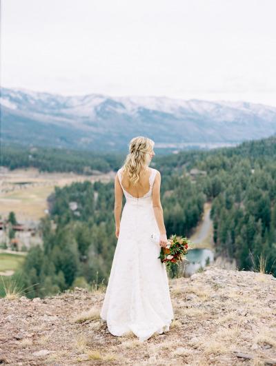 Vestido de novia en linea A