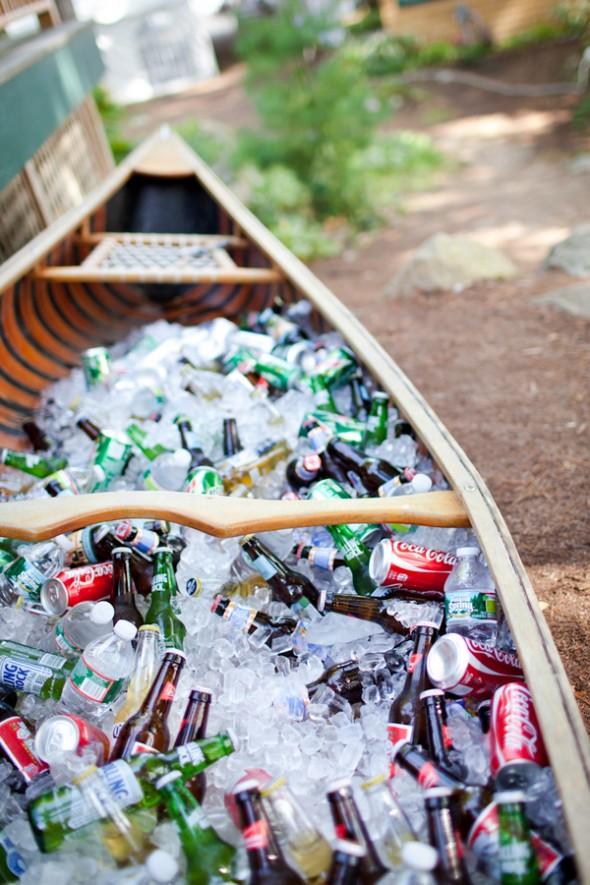 Idea Original para usar como hielera de las bebidas de la fiesta