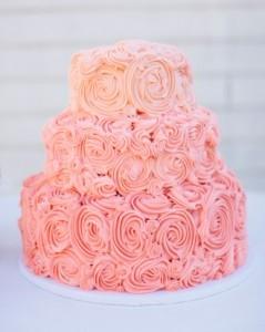 Pastel de Boda Rosas de crema