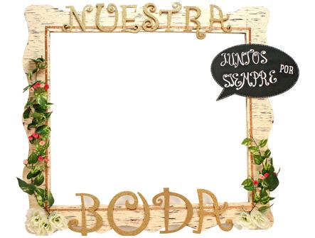 C mo hacer un marco gigante para bodas el blog de una novia - Como decorar un marco de fotos ...