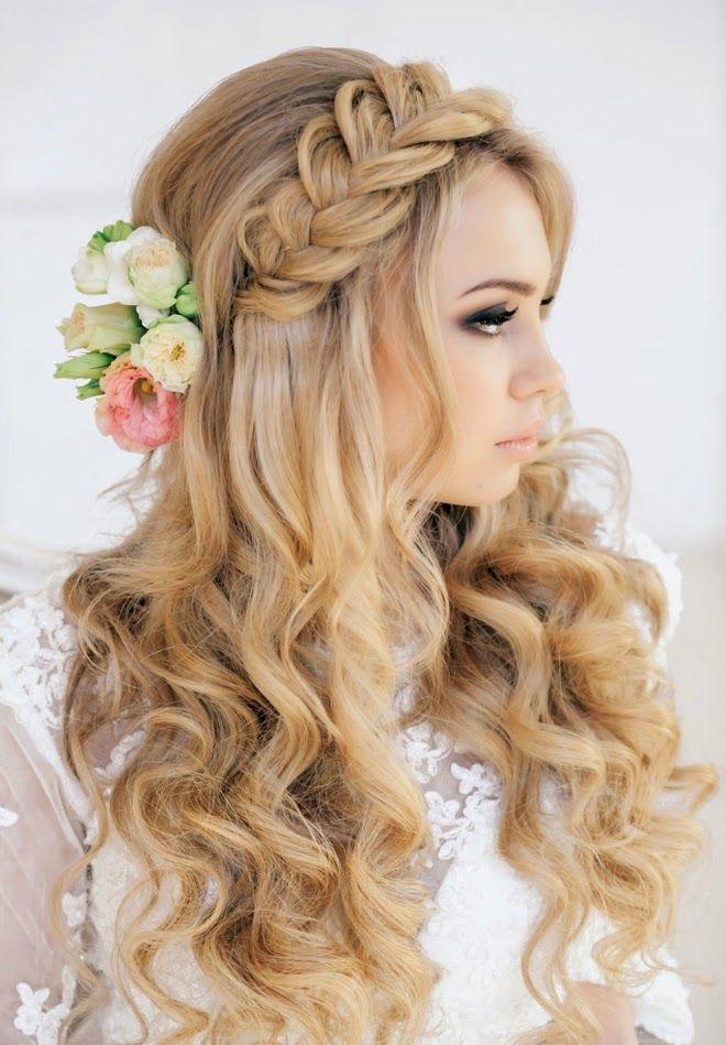 novia cabello largo con trenza
