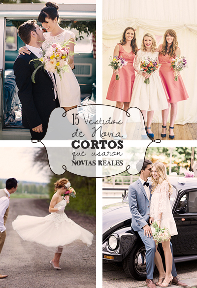 15 Vestidos de Novia Cortos que usaron Novias Reales