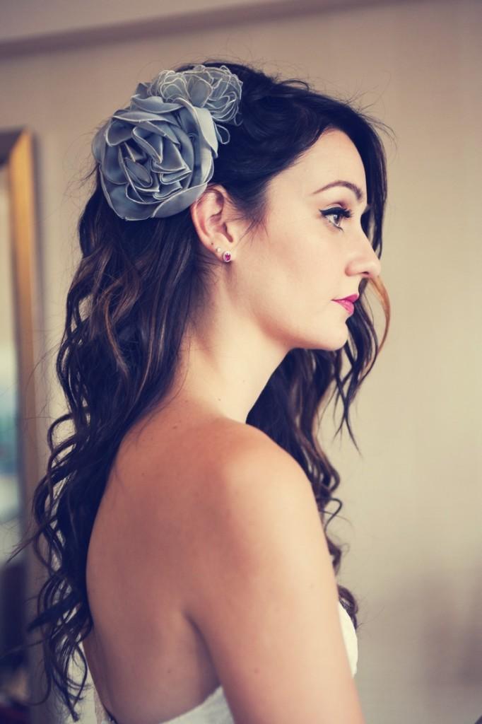 Algo azul en el cabello de la novia