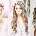 Peinados de Novia Cabello suelto con flores