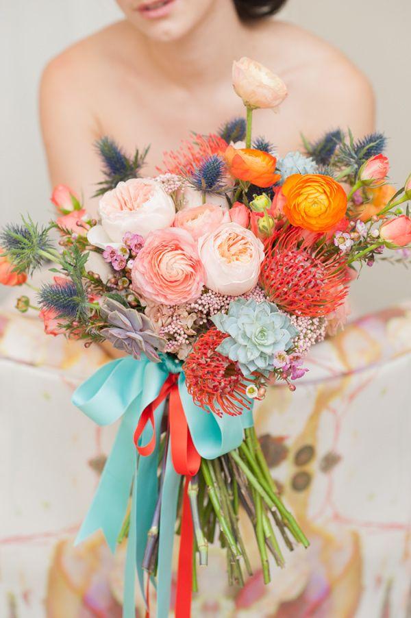Ramo de novia en colores alegres