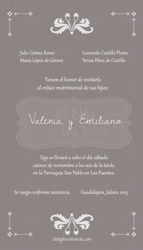 Texto de una invitación de boda formal | Anatomía de la invitación de boda