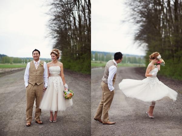 Vestido de novia corto de Justin Alexander
