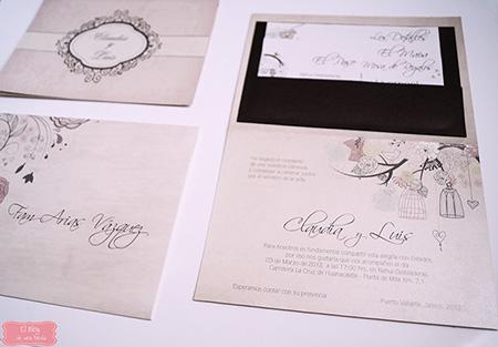 Ejemplo de invitación para boda