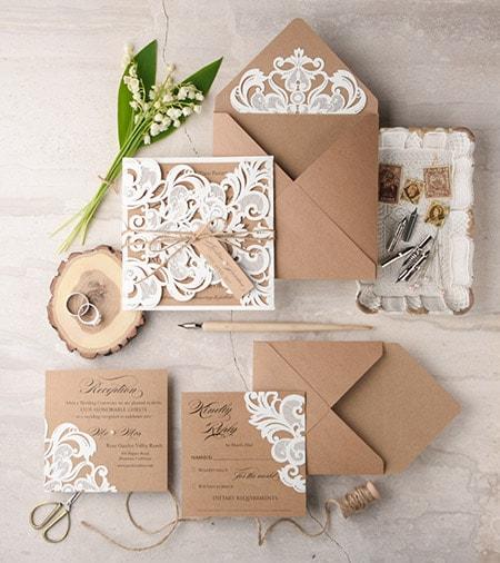 Protocolo: Datos de la Invitación de boda