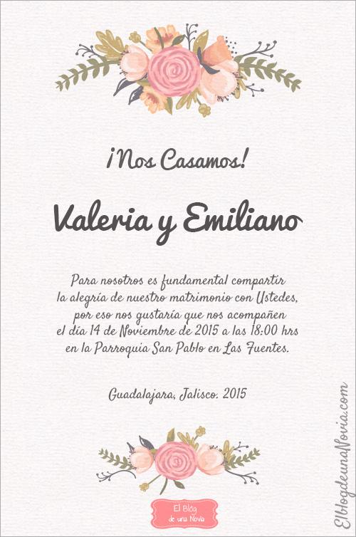 Texto de una invitación de boda casual | Anatomía de la invitación de boda