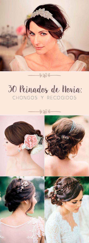 30 Peinados de Novia: Chongos y Recogidos