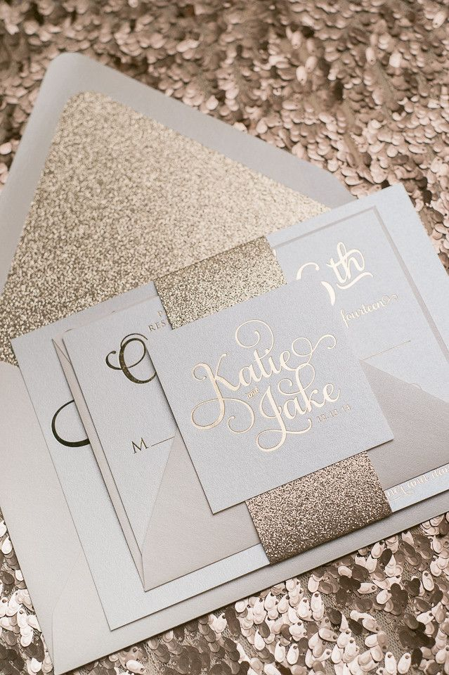 Invitación de boda con Glitter
