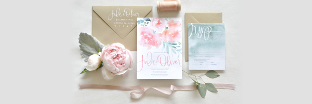 12 Hermosas Invitaciones de Boda con Diseño Floral y Caligrafía