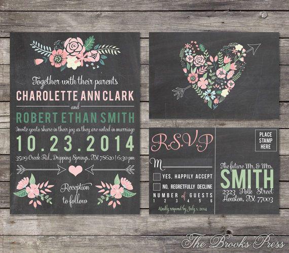 Invitaciones de boda en gis