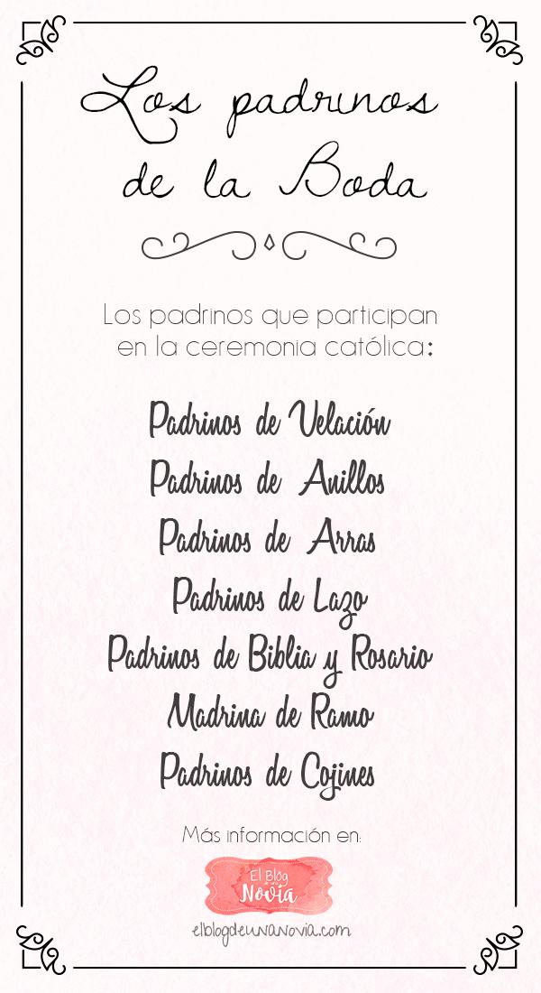 Matrimonio Catolico Padrinos : Lista de padrinos para una boda catolica