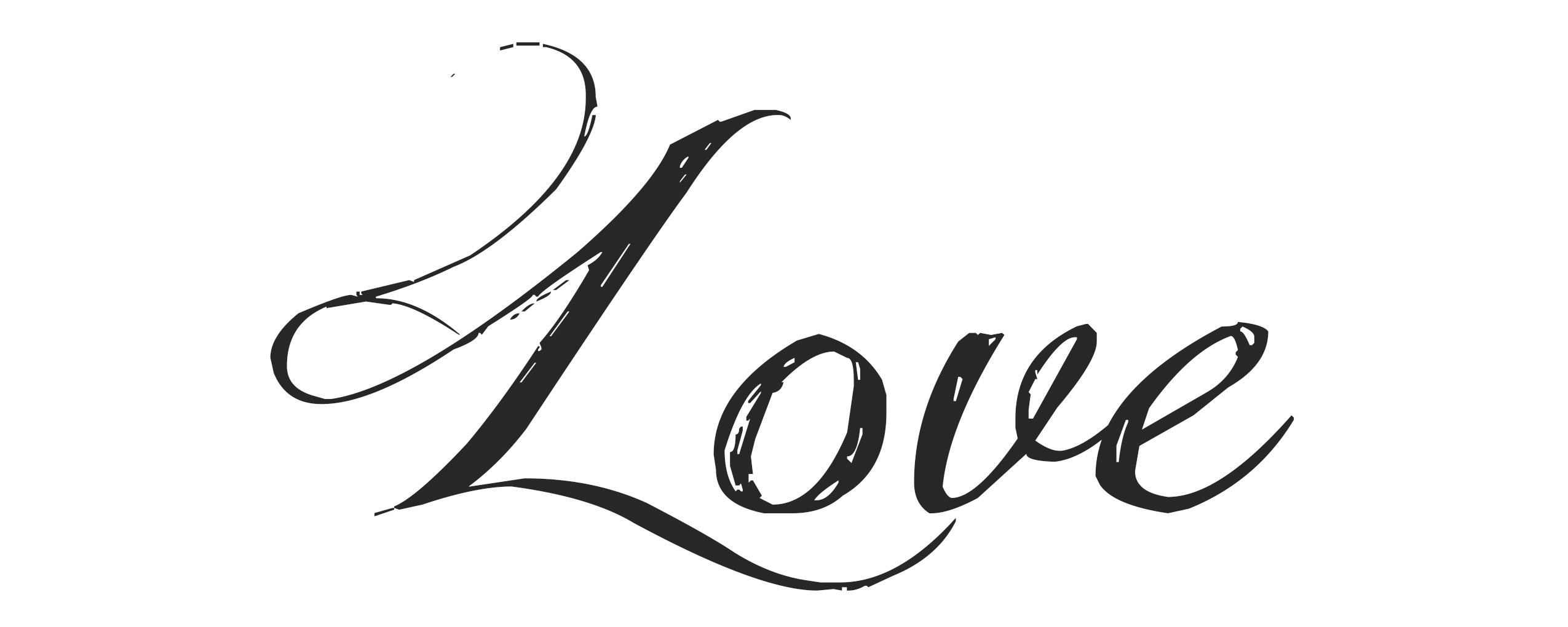 Love en letra manuscrita