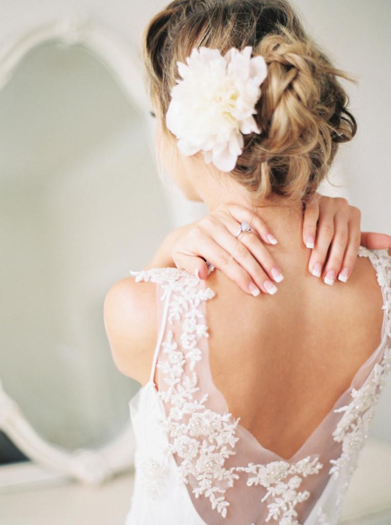 Manicure de novia estilo frances