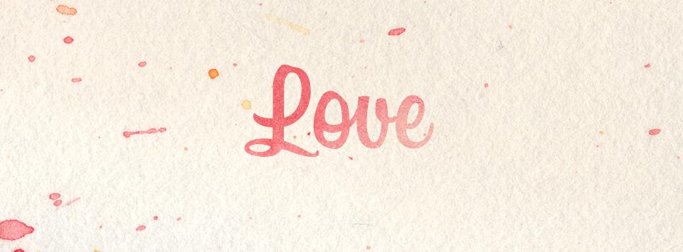 Palabra Love en manuscrita