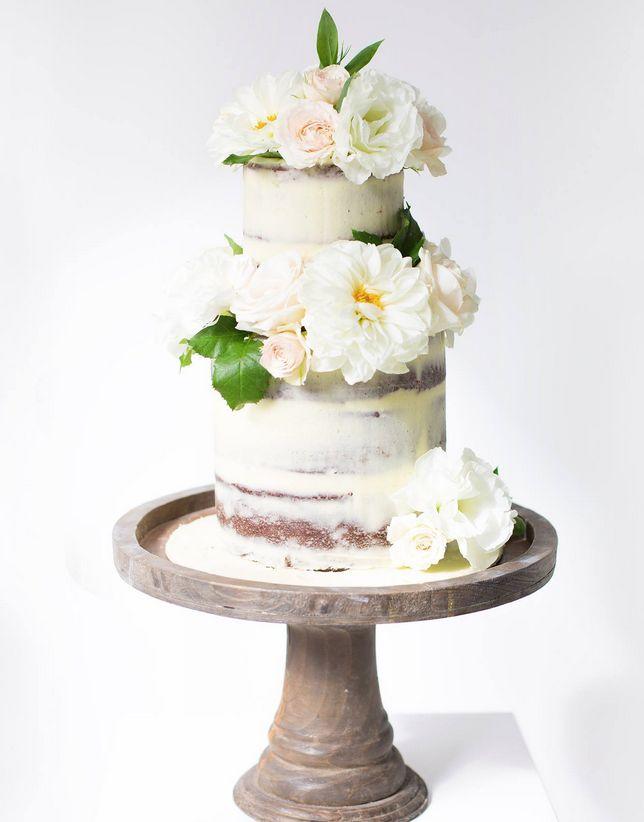 Pastel de Boda con flores
