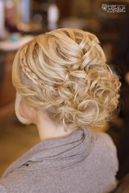 Peinado Recogido para novia con diadema de trenza