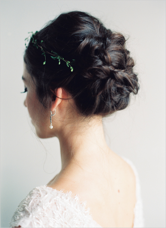 Peinado de Novia con cabello recogido