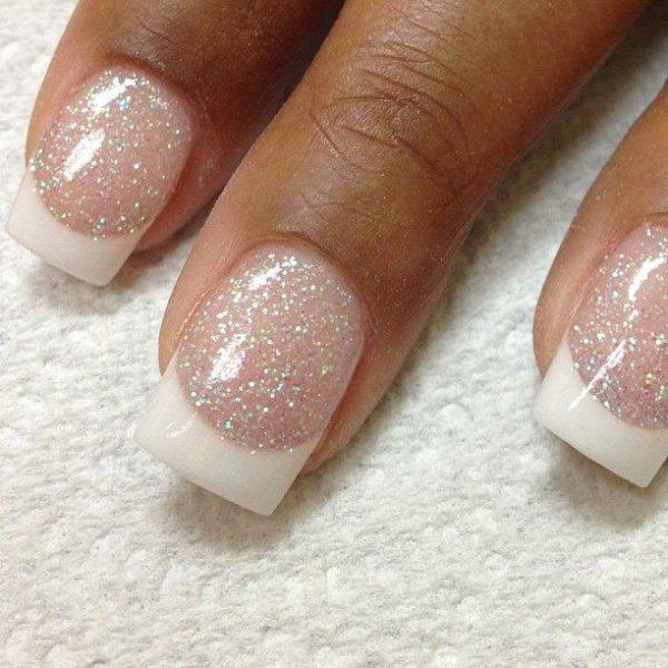 Uñas de Novia con brillos