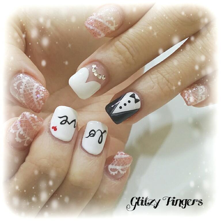 Manicure de la novia ideas y consejos el blog de una novia - Decoracion de unas de gel para novias ...