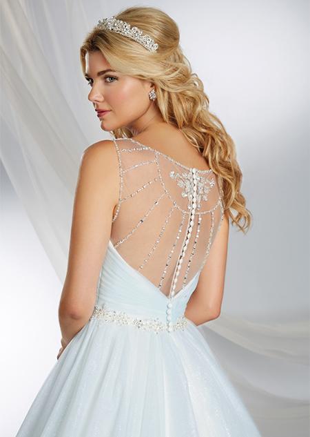 Vestido de Novia Disney por Alfred Angelo modelo Cinderella 2015 - espalda