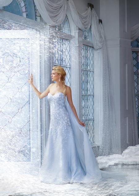 Vestido de Novia Disney por Alfred Angelo modelo Elsa 2015 -