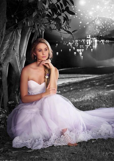 Vestido de Novia Disney por Alfred Angelo modelo Rapunzel 2015