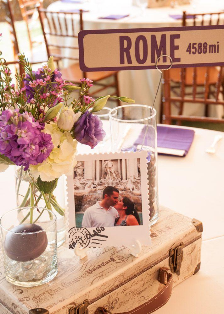 Nombra las mesas de la boda con nombres de ciudades