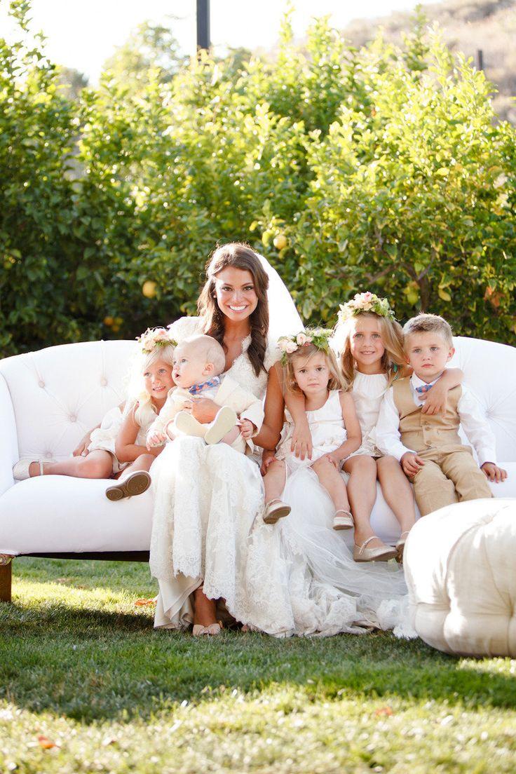 La novia con los pajes - Divertidas ideas de fotos