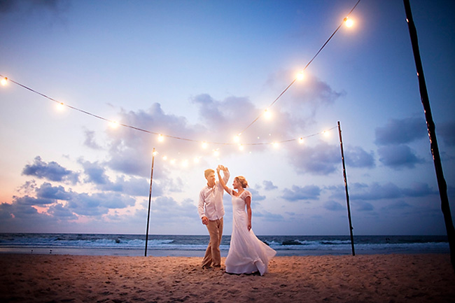Las fotos de la boda en la playa con un escenario espectacular