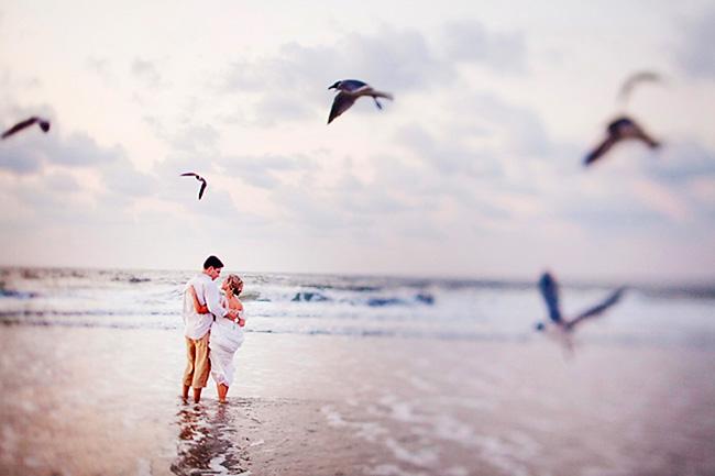 Los novios en su sesión de fotos en la Playa