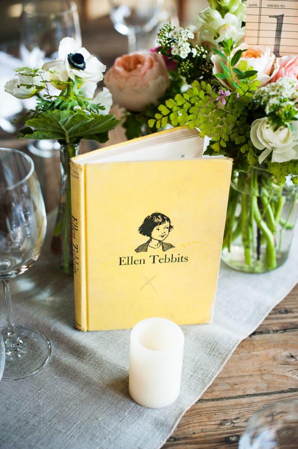 Nombra las mesas de la boda con los libros favoritos de los novios