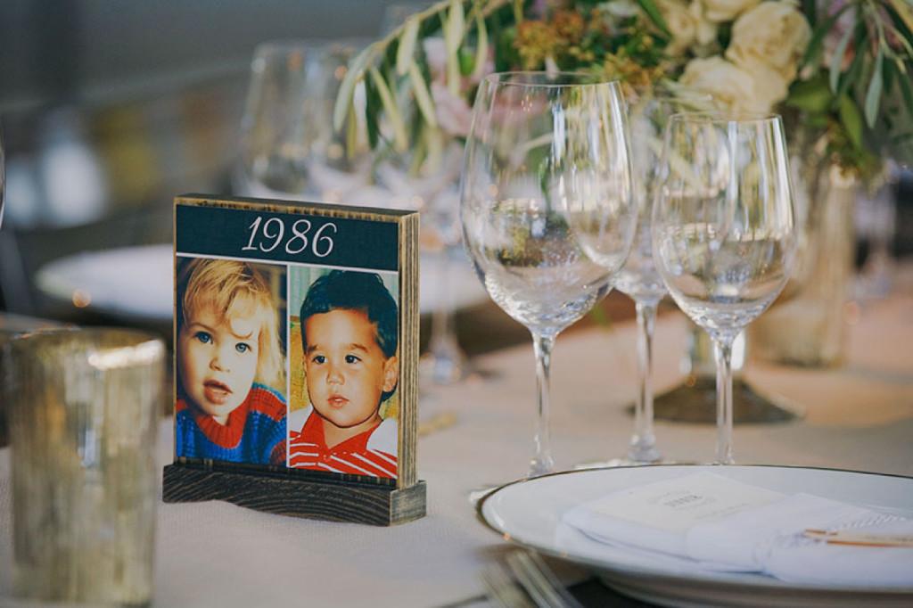 Numerar las mesas de la boda por añosNumerar las mesas de la boda por años