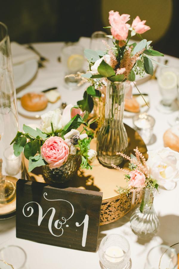Numeros para la mesa de la boda en madera