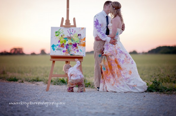Trash the  dress con pintura