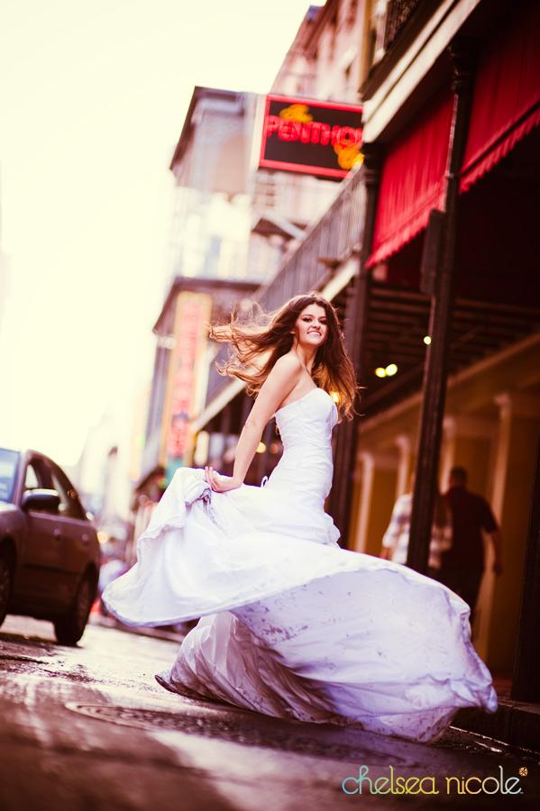 Fotos con tu vestido de novia después de la boda