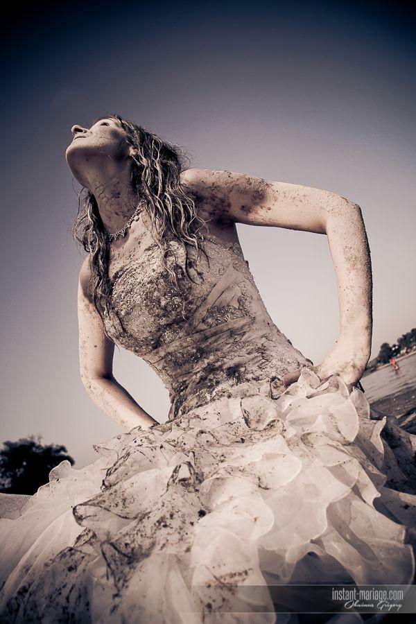 Vestido de Novia con lodo