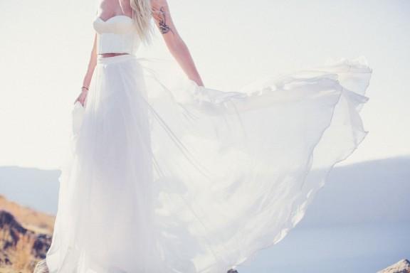 Vestido de novia falta y top