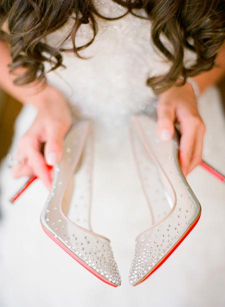 Zapatos de Novia Transparentes con brillos - De Christian Louboutin