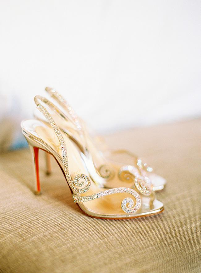 Zapatos de Novia con Brillos de Christian Louboutin