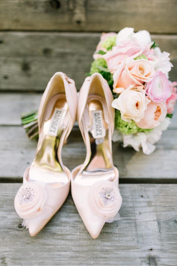 Zapatos de Novia en tono rosa