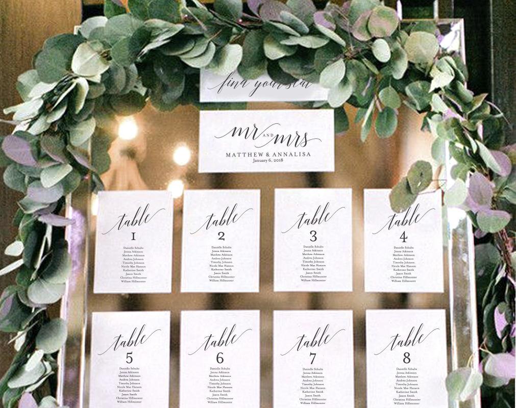 Chart mesas boda