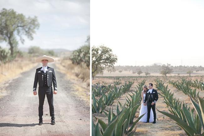 Novio vestido de charro para boda estilo mexicano - Mexican Wedding
