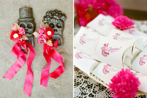 Recuerditos en una boda mexicana