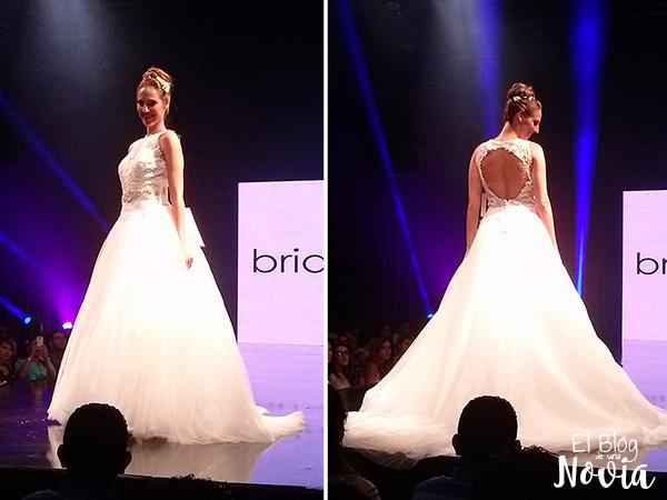 Vestido de Novia estilo princesa con espalda descubierta - Briden Formal