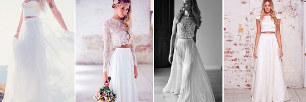 Vestidos de Novia en Dos Piezas