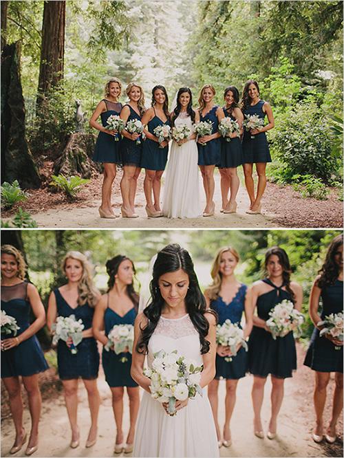 Reglas básicas para el look de las damas con vestidos diferentes